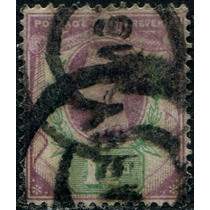 0950 Inglaterra Reina Victoria 1.5p Usado 1887-92