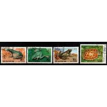 0604 Ranas Tortugas Korea 4 Sellos C T O N H 1992-98