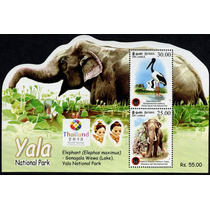1041 Elefante Sri Lanka Yala Hoja Recuerdo 2 P Mint N H 2013