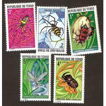 Estampilla Chad Fauna Insectos Nuevas