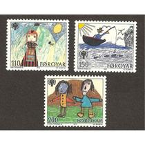 Estampillas De Islas Faroe Dibujos Infantiles Vbf