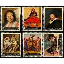 1250 Pinturas Famosas Yemen Serie 6 Piezas C T O N H 1967
