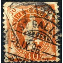 1503 Suiza Mujer Con Escudo Lanza 30c Usado 1891-99