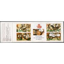 1676 Carterita 5° Cent America España 4 Piezas Mint N H 1992