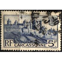1862 Francia Castillo Scott #345 Carcassonne 5f Usado 1938