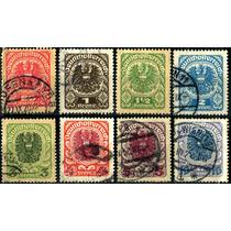 1878 Austria Scott #238 Simbolo 8 Sellos Usados 1920-21