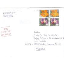 Sobre Estampilla De Flores De Suiza Orquideas
