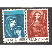 Islandia Navidad 1984 Angel Y Virgen María
