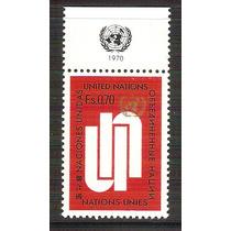 1970 Naciones Unidas Emblema Ginebra Suiza Sello Nuevo