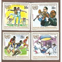 Estampillas Arte Ciencia Deporte Para La Paz Rwanda Onu