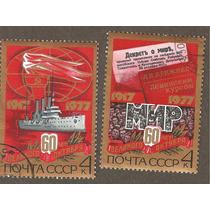 Estampillas 60 Años Revolucion Union Sovietica.