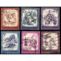 2807 Austria Castillos Serie 6 Sellos Usados 1973-78