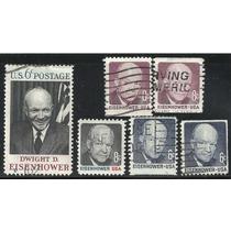 Estados Unidos Guerra Mundial Eisenhower 6 Sellos Usados