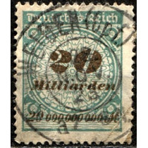 2572 Alemania Scott #298 Numeral 2mill Usado 1923