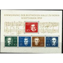 0060 Beethoven Composi Alemania H Recuerdo 5 P Mint N H 1959