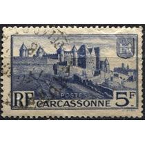 2937 Francia Castillo Azul Scott#345 5f Usado 1938