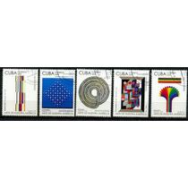 0294 Arte Moderno Cuba 5 Sellos C T O N H 2009