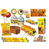 Kit Imprimible Mi Villano Favorito 3 Minions Candy Bar!!