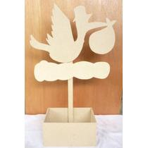 Centros De Mesa Baby Shower Cigueña Para Pintar Cajitas