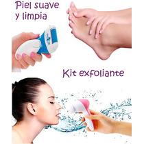 Kit Exfoliante, Cepillo Eléctrico Facial 5 En 1 + Lima Pies
