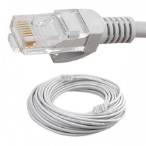 Cable De Red Ethernet Utp Con Conectores Cat. 5e 20 Metros