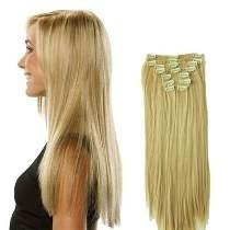 Kit De Extensiones De Cabello Natural Humano 24 Pulg Clip-on