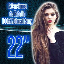 Extensiones De Cabello 100% Natural 22 Pulgadas Dobles Clip