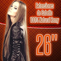 Extensiones De Cabello 100% Natural Clipon 26 Pulgadas Largo