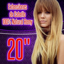 Extensiones De Cabello 100% Natural Clipon 20 Pulgadas Largo