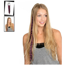 Hot Topic Extensiones De Cabello Purple Zebra Clip-in Synthe