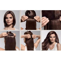 Kit Extensiones De Cabello Natural 18 20 Y 24 Pulg Con Clips