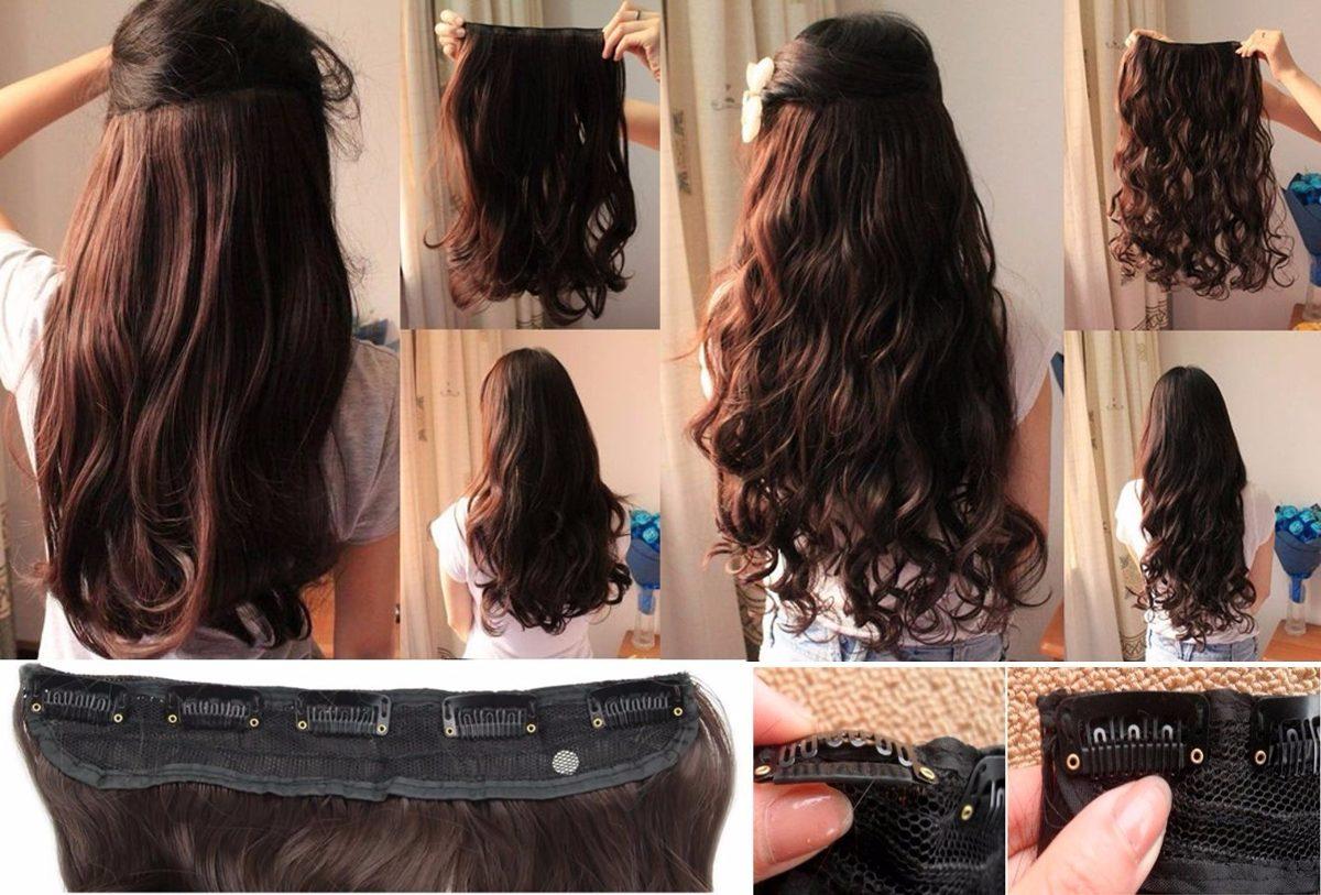 Extensiones de pelo con clip cortina en mercadolibre - Extensiones cortina ...