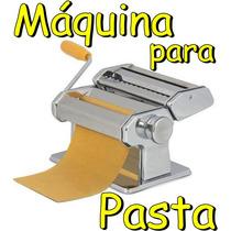 Maquina Para Pasta Casera Acero Cromado Italia