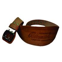 Faja Cinturon Para Pesas En Vaqueta 100% Bovino