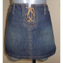 Abercrombie & Fitch Minifalda De Mezclilla Talla 32