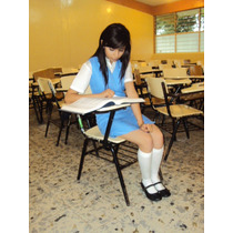 Jumper Uniforme Escolar Secundaria Federal Azul 2do Grado