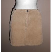 American Eagle! Minifalda De Pana Color Café Con Leche, T- 6