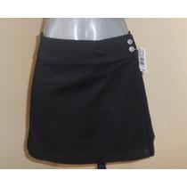 Minifalda Negra Corte Pareo Marca Newton Circus Talla 32