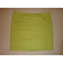 Falda Marca Merona Stretch Color Verde Talla Extra Grande 18