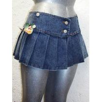 Mini Falda Tableada Mezclilla Stretch Tallas Extras 40 A 48