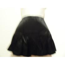 Falda Negra De Satin Talla Chica