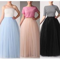 Faldas De Tul Al Tobillo 1m De Largo Todos Los Colores