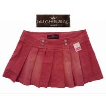 Envio Mini Falda Mezclilla Lino Talla 5 Chica Rosa Coral