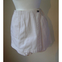 Talla-5/6 Minifalda Short Color Hueso!! Fach782