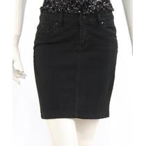 Mini Falda Mezclilla Negra Trf Zara