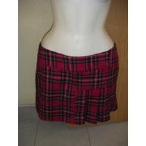 Minifalda A Cuadros Tableada Marca Nicholas