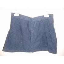 Minifalda Para Dama Talla Xs Color Azul De Pana Nueva