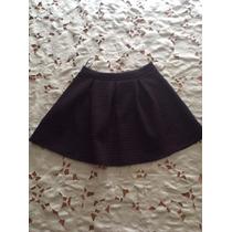Minifalda Por Limpia De Closet Talla S Circular Negro