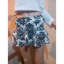 Minifalda Muy Sexy Con Olanes Excelente Calidad