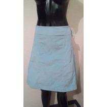 Falda Azul De Pana Talla 9 Nueva Life